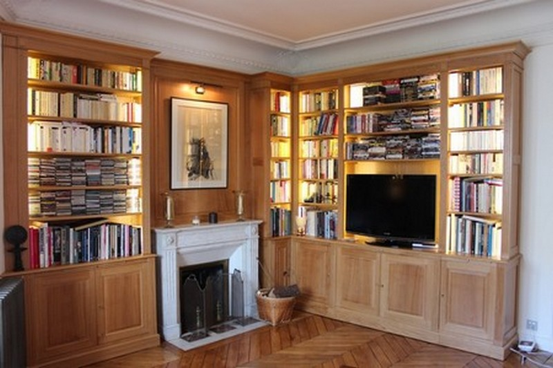 ebeniste normandie restauration fabrication bibliotheque murale amenagement placard meuble. Black Bedroom Furniture Sets. Home Design Ideas